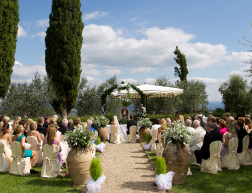 Family wedding castle tower in tuscany italy ct02