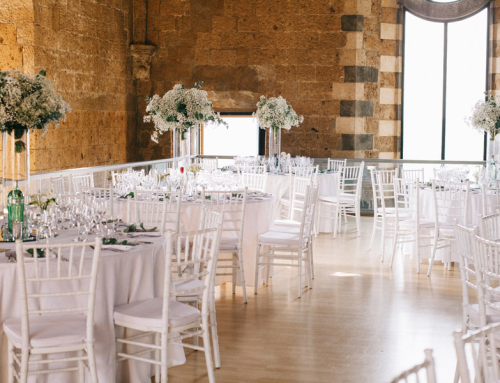 Baby breath decor for wedding in Italy