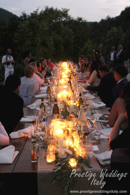 Long table decor wedding Italy inspiration
