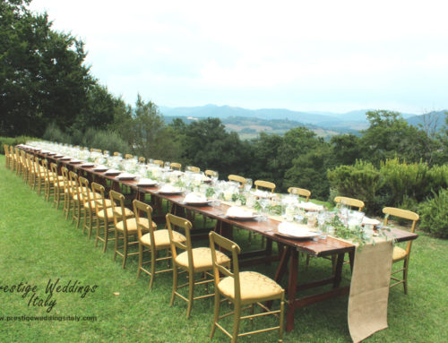 Long table decor for wedding in Italy inspiration