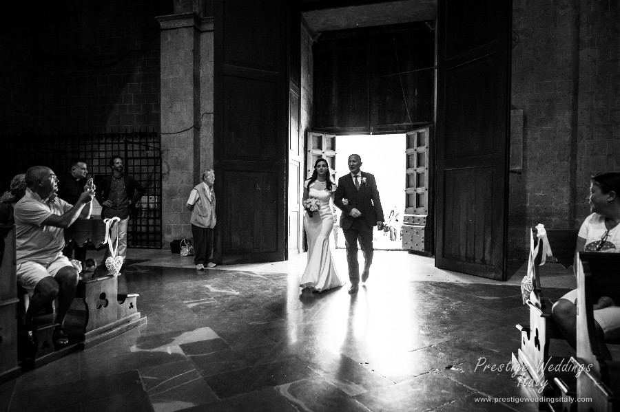 Real wedding in La Domus Orvieto wedding venue
