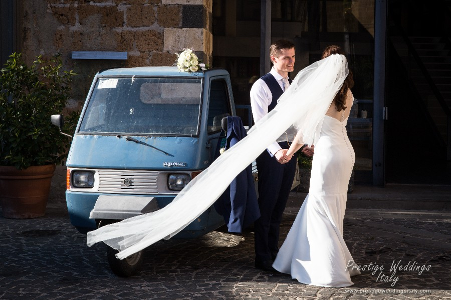 Real wedding in Orvieto. La Domus wedding venue