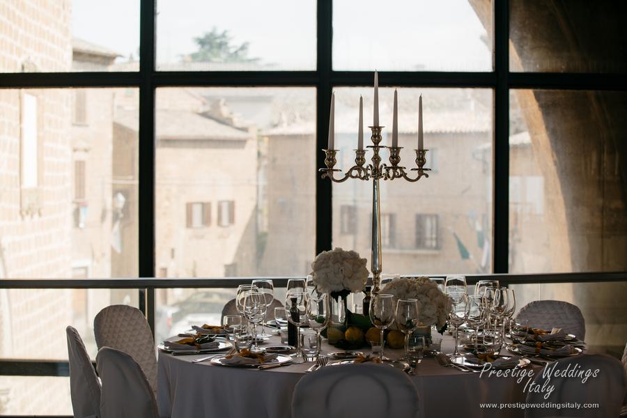 La Domus Orvieto wedding venue. vist page at http://www.prestigeweddingsitaly.com/la-domus-orvieto-wedding-venue-floral-decoration/