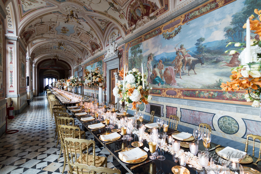 The luxury Gallery for your castle wedding in Italy