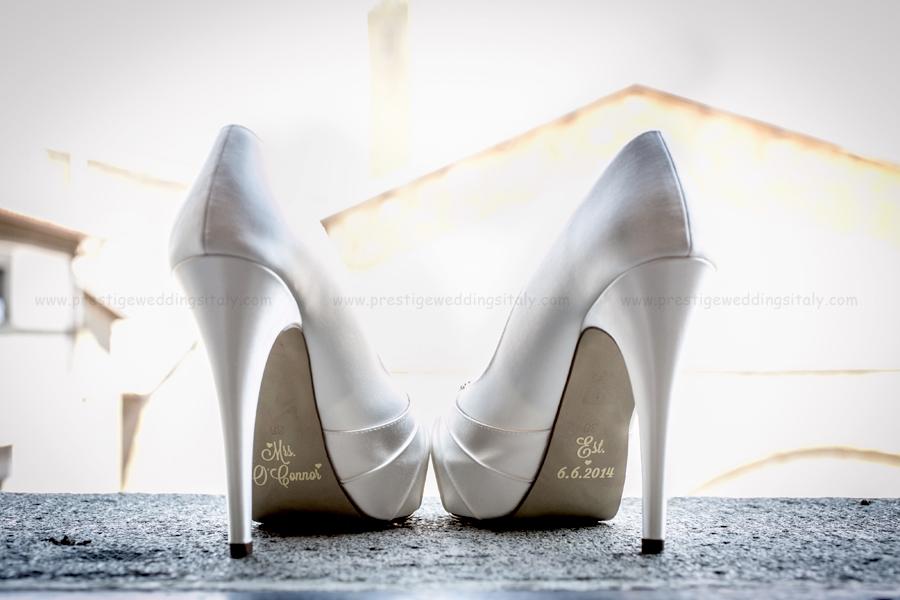 decal wedding shoe