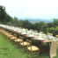 wedding italy, long table decor,