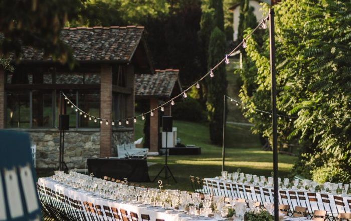 Long tables wedding in Tuscany