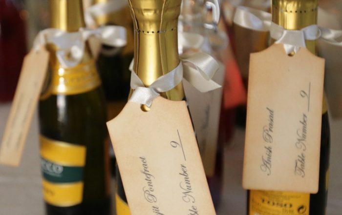 mini bottles wedding