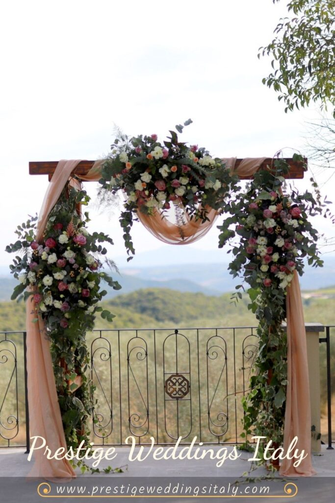 Wedding in Orvieto with view of Hillsides